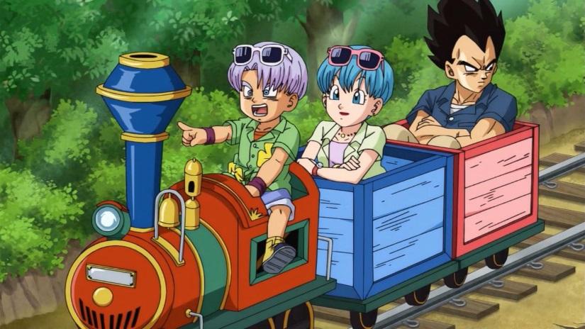 Vegeta & Family In A Train