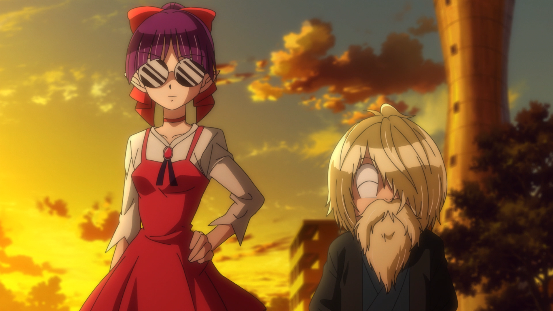 Header image showing Kitaro and Neko Musume in disguise