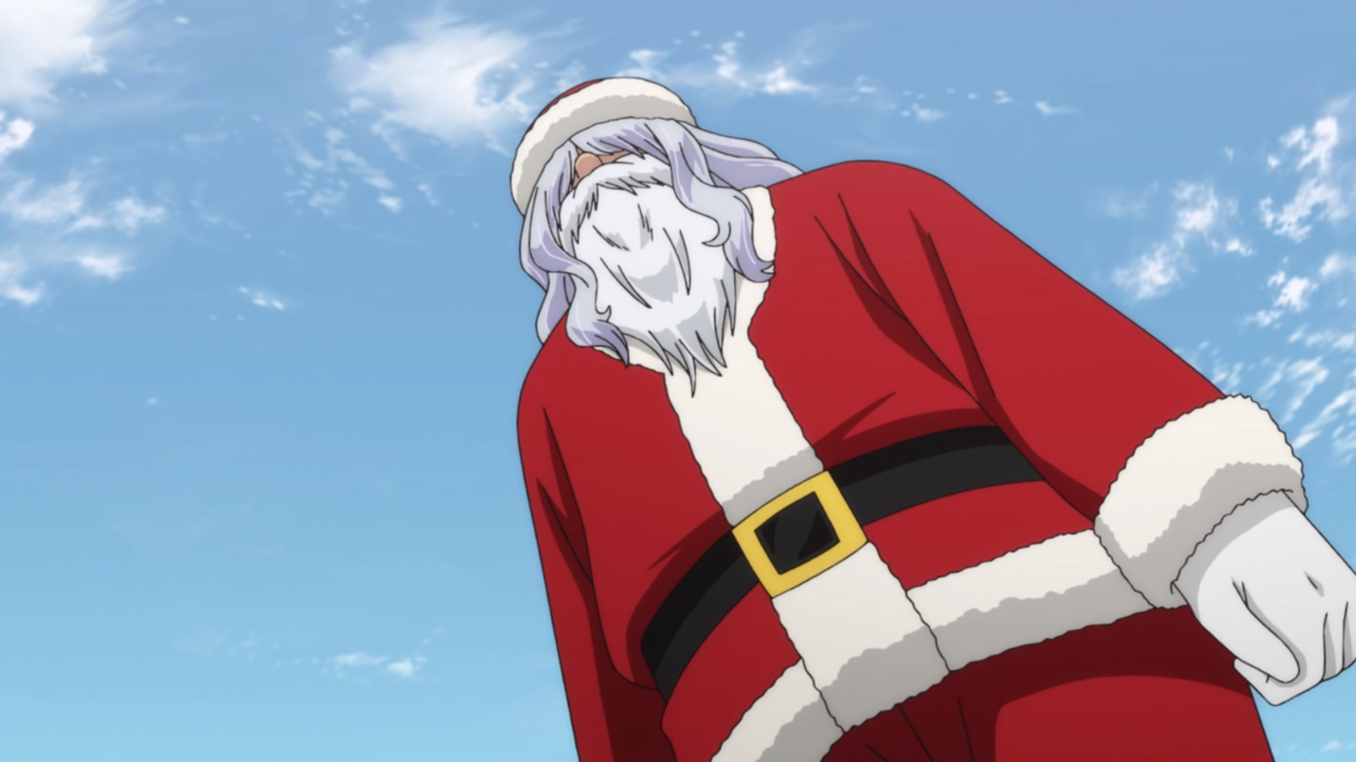 Header image depicting a yokai possessed mall santa